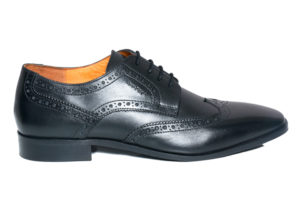 Real Leather Men's Black Brogue Shoes