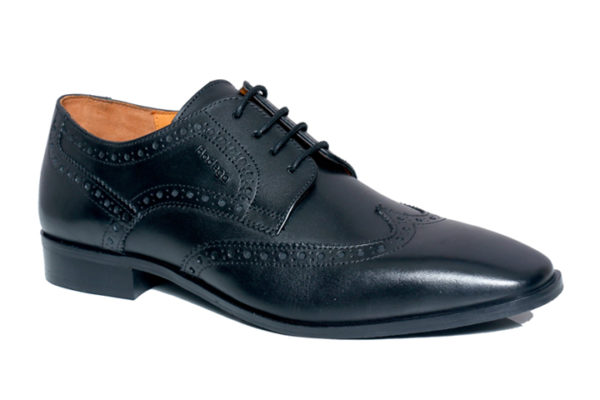 Real Leather Men Black Brogues Shoes