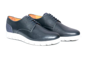 Real Leather Men's Black Extralight Sole Shoes
