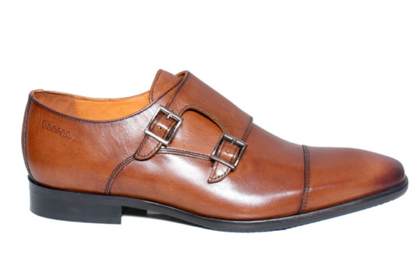Brown Double Monk Shoes