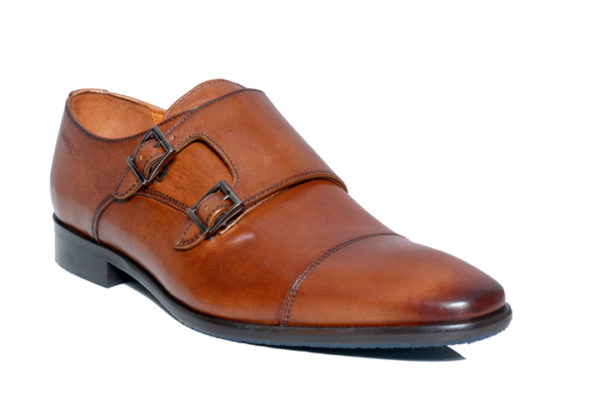 Bodega Shoes Real Leather Men Brown Double Monk Shoes