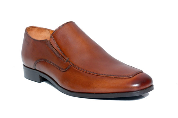 Bodega Shoes Real Leather Men Classic brown Slip-on Shoes