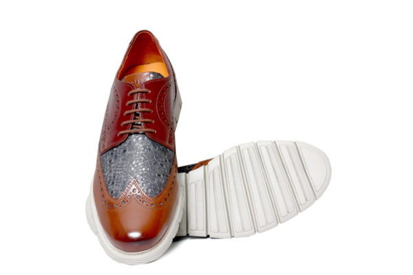 Real Leather Men's Tan Extralight Sole Shoes