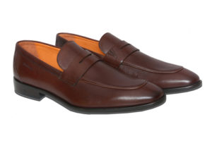 Real Leather Men's Casual Brown Slipon Shoes