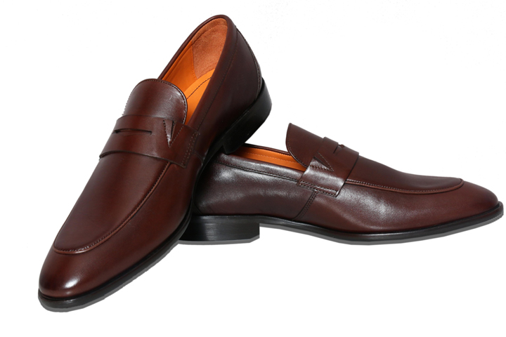 Bodega Shoes Real Leather Men Casual Brown Slip-on Shoes