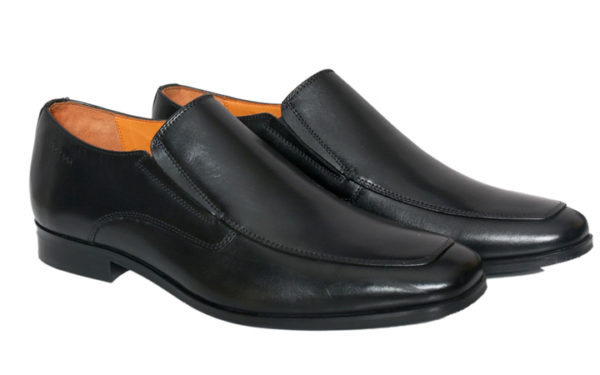 Mens Black Leather Loafer Shoes