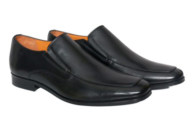 Real Leather Men's Classic Black Slipon Shoes