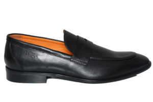 Real Leather Men's Casual Black Slipon Shoes