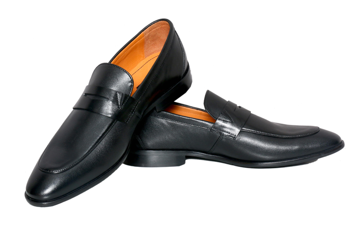 Bodega Shoes Real Leather Men Casual Black Slip-on Shoes