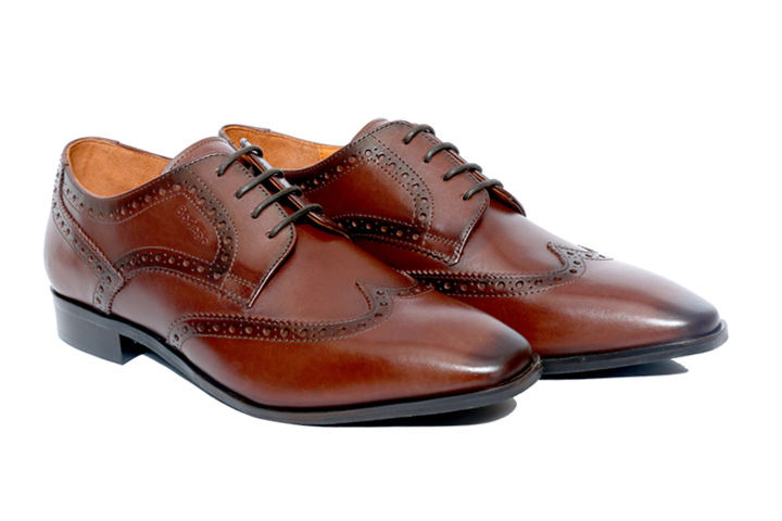 Bodega Shoes Real Leather Men's Brown Brogues Shoes
