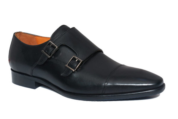 Double Monk Shoes Black