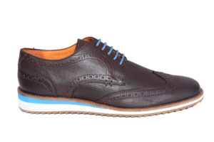 Real Leather Men's Brown Lightweight Casual Brogue Shoes