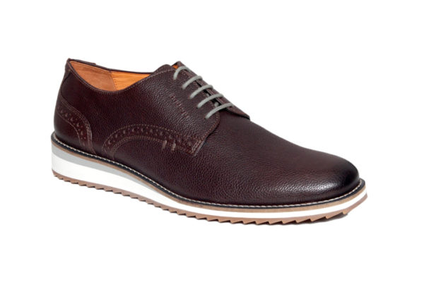 Bodega Shoes Real Leather Men Brown Light Weight Casual Perforated Detailing Shoes