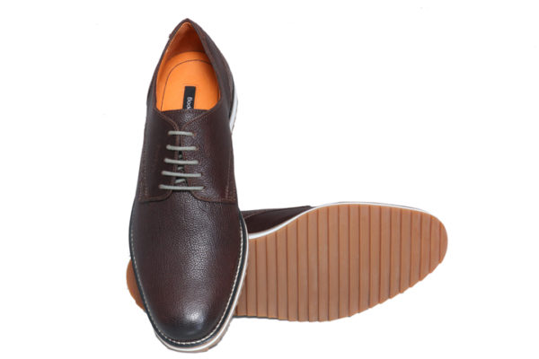 Real Leather Men's Brown Lightweight Casual Perforated Detailing Shoes