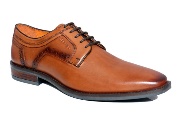 Bodega Shoes Real Leather Men Brown Derby Shoes