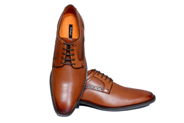 Real Leather Men's Brown Derby Shoes