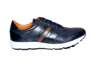 Real Leather Men's Navy Lightweight Sneaker
