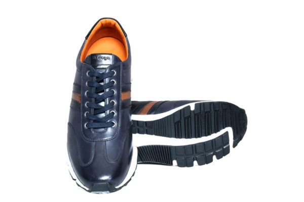 Bodega Shoes Real Leather Men Navy Light Weight Sneaker
