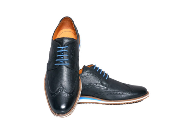 Bodega Shoes Real Leather Men Black Light Weight Casual Brouges Shoes