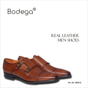 Monk Real Leather Shoes Brown