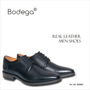 Real Leather Shoes- Black