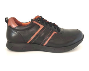 Bodega | Pure Leather Black Casual Sneaker Shoes