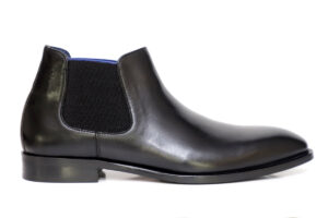 Real Leather Men Black Chelsea Boot