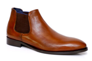 Real Leather Men Tan Chelsea Boot