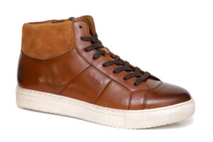 Real Leather Men Tan Casual Ankle Sneaker