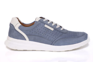 Real Leather Men Sky Blue Casual Sneaker