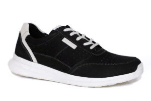 Real Leather Men Black Casual Sneaker
