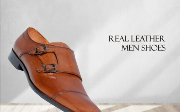 Leather Double Monk Shoes